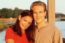 Katie Holmes and James Van Der Beek during their Dawson's Creek days.
