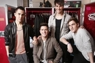 "Boy band Big Time Rush, who star on their own Nickeledeon TV show, talk about covering classics by the Beatles like ""We Can Work It Out"" and ""Can't Buy Me Love"" on their new EP and TV-movie, both called ""Big Time Movie."""