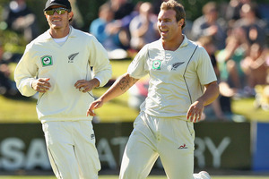 Doug Bracewell had a good all-round test for the Black Caps against South Africa. Photo / Getty Images