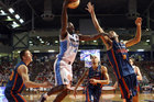 Cedric Jackson of the Breakers goes for the basket during the round 23 NBL match between the Adelaide 36ers and the New Zealand Breakers. Photo / Getty Images.