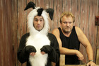 Papakura Theatre Club preparing for their production of Footrot Flats. Photo / Richard Robinson