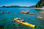 Kayaking is an ideal way to explore the park. Photo / Supplied
