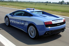 Italian taxation cops are targeting luxury car owners in a tax crackdown. We're sure the Lamborghini Gallardo LP560-4 Polizia is exempt. Photo / Supplied