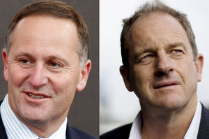 John Key and David Shearer. File photo / NZ Herald