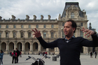 Tour guide Olivier Marie-Antoine outside the Louvre Museum in Paris. Photo / P.K. Stowers