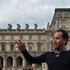 Tour guide Olivier Marie-Antoine outside the Louvre Museum. Photo / P.K. Stowers