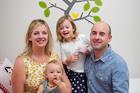 Mary-Ellen and Matthew Hinton with their children Sybella and Jasper. Photo / Natalie Slade