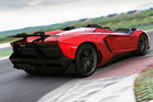 Lamborghini's spectacular Aventador J one-off was revealed - and sold - at the Geneva Motor Show. Photo / Suppllied