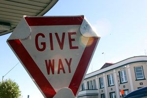 The give way rule changes on March 25. Photo / Lynda Feringa