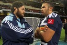 Piri Weepu talking to Stormers wing Bryan Habana. Photo / Getty Images