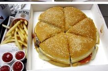 The Burger King Pizza Burger sold in America. Photo / Supplied