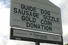 Guide dog Sausage sizzle. Photo / Supplied
