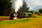 The tiny community of Kingston on the shores of Lake Wakatipu, near Queenstown, hopes the reinvigorated Kingston Flyer will provide a tourism boost. Photo / Supplied