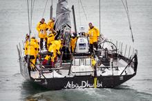 The crew of the Abu Dhabi. Photo / Natalie Slade