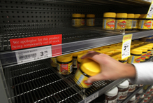 Vegemite is a possible alternative to the popular breakfast spread after shelves around the country have been stripped of Marmite. Photo / Sarah Ivey