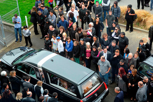 Funeral services for four victims of the Easy Rider boat sinking were held today in Invercargill. Photo / Otago Daily Times