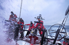 Camper is hanging on to the lead. Photo / Hamish Hooper/CAMPER ETNZ/Volvo Ocean Race