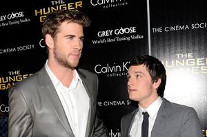 Actors Liam Hemsworth, left, and Josh Hutcherson. Photo / AP