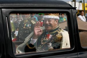 King George Tupou V after being crowned in 2008. Photo / Glenn Jeffrey