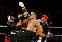 The Sonny Bill Williams fight was held at the Claudelands Event Centre. Photo / Christine Cornege
