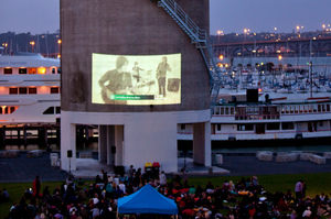 Twilight movie at Auckland's Wynyard Quarter. Photo / Chris Loufte