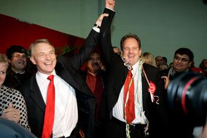 Labour leader David Shearer, right, and Phil Goff in 2009. Photo / Janna Dixon