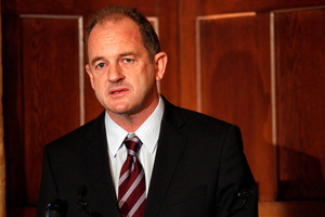 Labour leader David Shearer during his breakfast speech at the Wellesley Hotel.  Photo / Mark Mitchell