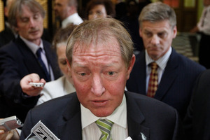 Nick Smith speaks to the media after announcing his decision to resign. Photo / Mark Mitchell