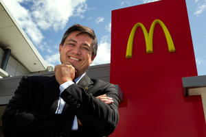 Patrick Wilson, managing director  of McDonald's New Zealand.  Photo / Brett Phibbs
