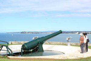 North Head's disappearing gun could be in for a makeover. Photo / Jim Eagles