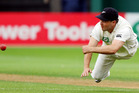 Daniel Flynn of New Zealand fields the ball during day two of the Third Test match between New Zealand and South Africa at Basin Reserve. Photo / Getty Images.