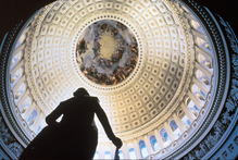 Inside the Capitol dome in Washington DC. Photo / Jake McGuire