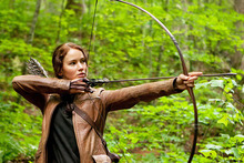 Jennifer Lawrence portrays Katniss Everdeen in a scene from The Hunger Games. Photo / Supplied