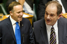 Parliament has seen repeated clashes between John Key and David Shearer, with Key scoring points on the use of the phrase 'brighter future'.  Photo / Mark Mitchell
