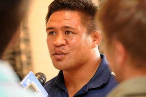 Blues skipper Kevin Mealamu. Photo / Getty Images