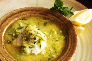 Mint in the courgette soup gives it a clean finish on the palate. Photo / Janna Dixon