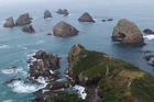 Nugget Point at the Catlin's south-eastern tip. Photo / Matthew Shallcrass
