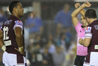 Manly have accepted a seven match ban for star forward Tony Williams. Photo / Getty Images.