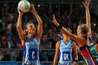 Natasha Chokljat of the Steel looks to pass the ball during the round eight ANZ Championship match between the Melbourne Vixens and the Southern Steel. Photo / Getty Images