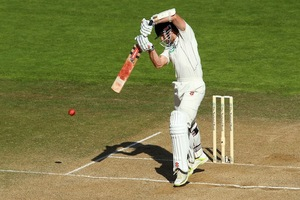 Kane Williamson on his way to his second test ton. Photo / Getty Images
