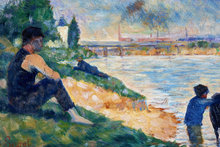 Georges Seurat's A Study for Une Baigne. Photo / Scottish National Gallery of Modern Art