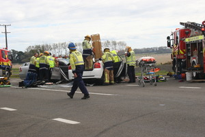 A woman is dead after a crash near Palmerston North today. Photo / Alecia Bailey