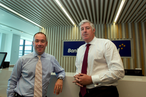 BNZ chief executive Andrew Thorburn and NAB Group chief Cameron Clyne want to 'balance' the conversation over earnings. Photo / Brett Phibbs