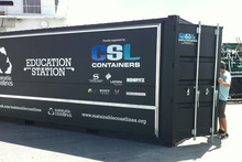 Sustainable Coastlines' mobile classroom 'Education Station'.
