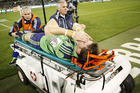 Colin Slade broke his leg against the Brumbies. Photo / Getty Images