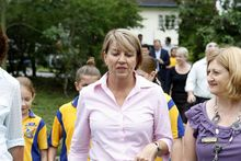 Anna Bligh on her final day of campaigning. Photo / Courier Mail
