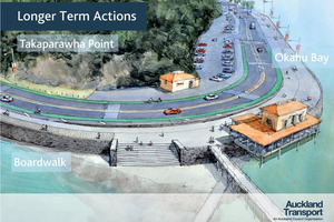 Proposed changes for the cycleways on Tamaki Drive. Photo / Supplied