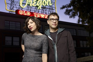 Carrie Brownstein and Fred Armisen of Portlandia.  Photo / Supplied