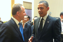 Prime Minister John Key meets with President Barack Obama. Photo / Supplied 