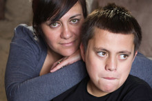 Amy Madden and her son Malachi, 10, want the custom-built trike returned.  Photo / Richard Robinson